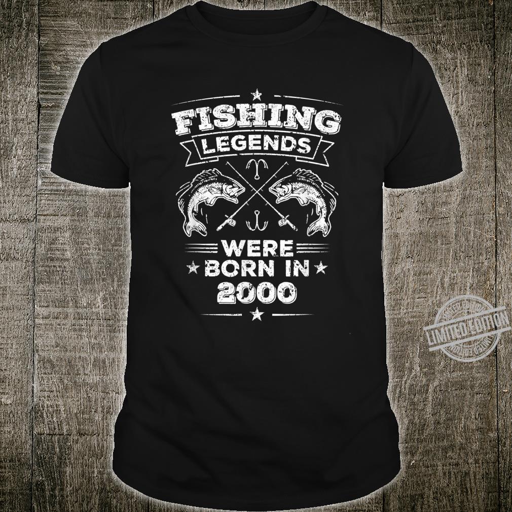 20. Geburtstag Kleidung Geschenke Männer Angler Legende 2000 Shirt