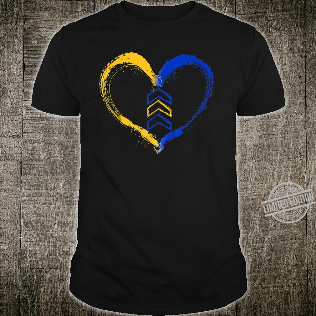 3 Arrow In Heart Trisomy T21 Down Syndrome Awareness Shirt