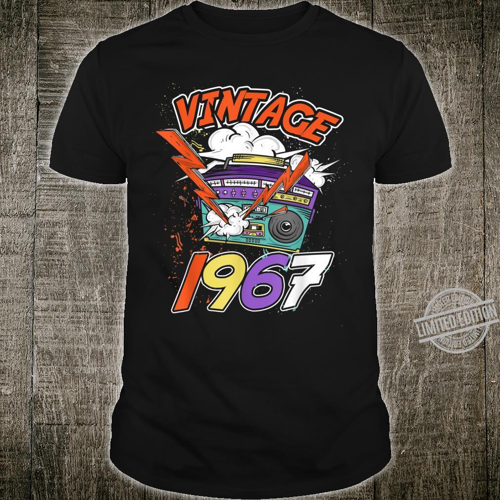 53rd Birthday Vintage Music 1967 Shirt