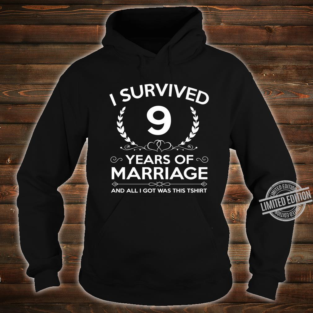9th Wedding Anniversary Couples Husband Wife 9 Years Shirt