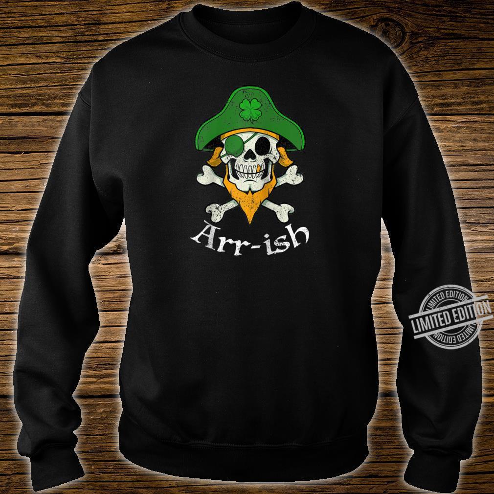 ARRish Irish Pirate Clover Skull Cool St Patricks Day Shirt sweater