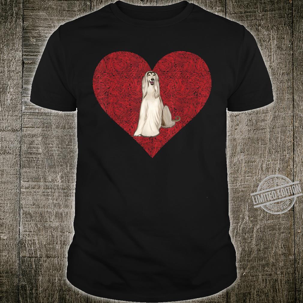 Afghan Hound Valentines Day Dog Love Fingerprint Shirt