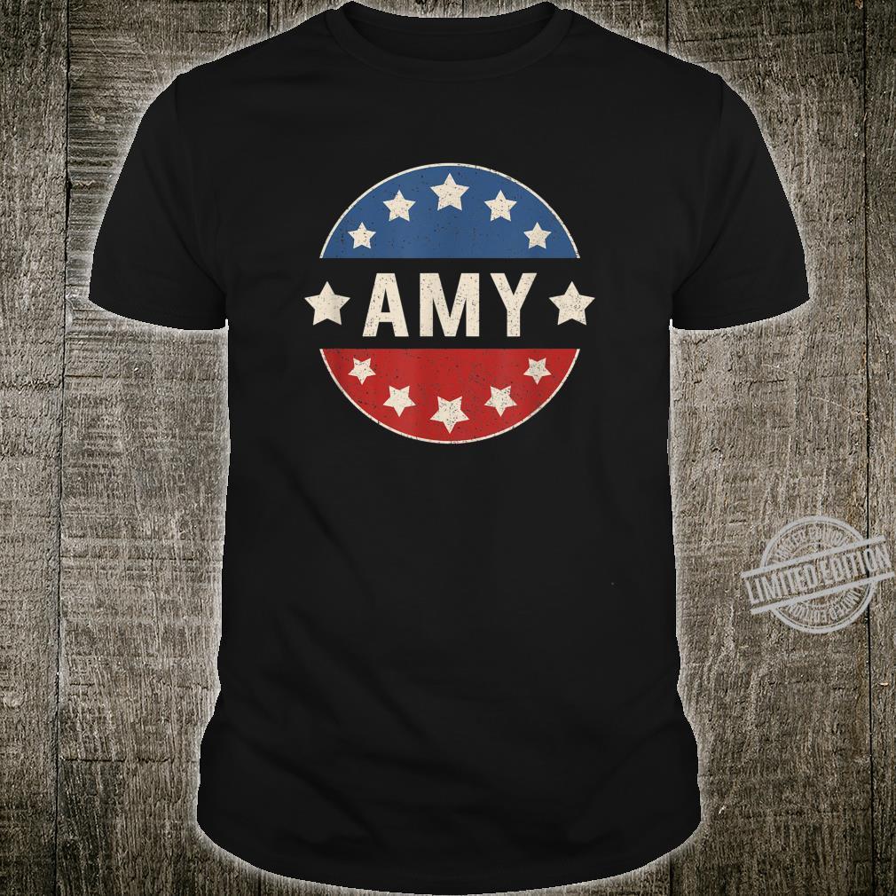 Amy For President 2020 Klobuchar Retro Election Button Shirt