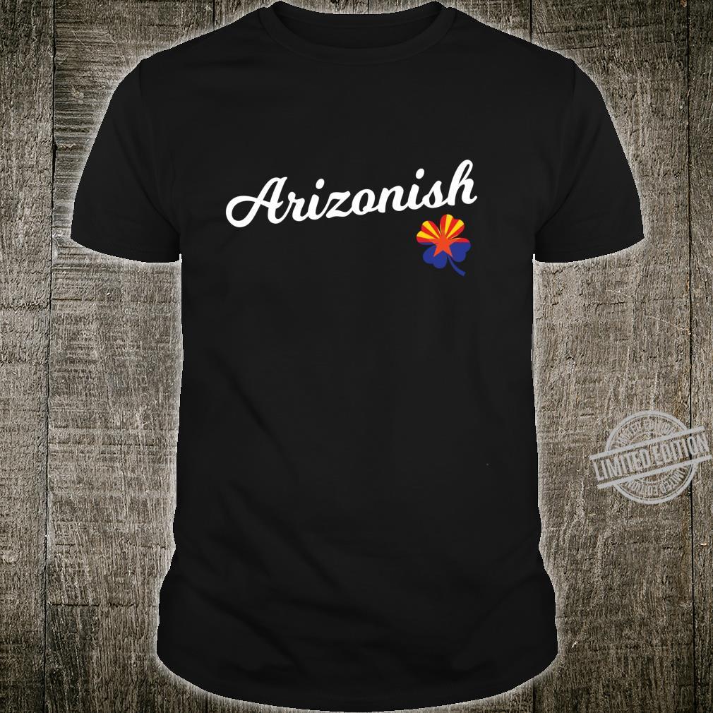 Arizona Irish Shirt St. Patricks Day Arizona Flag Shamrock Shirt