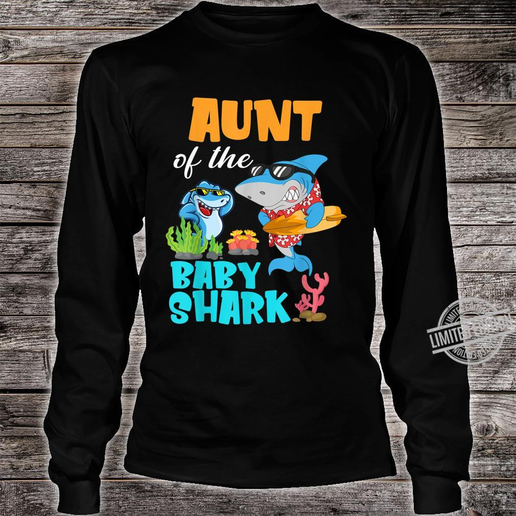 Aunt Of The Baby Shark Birthday Aunt Shark Shirt Shirt long sleeved