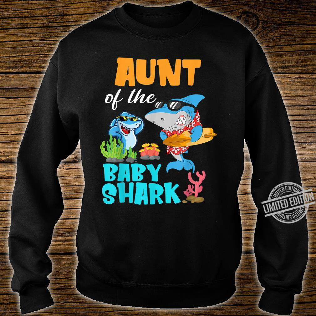 Aunt Of The Baby Shark Birthday Aunt Shark Shirt Shirt sweater