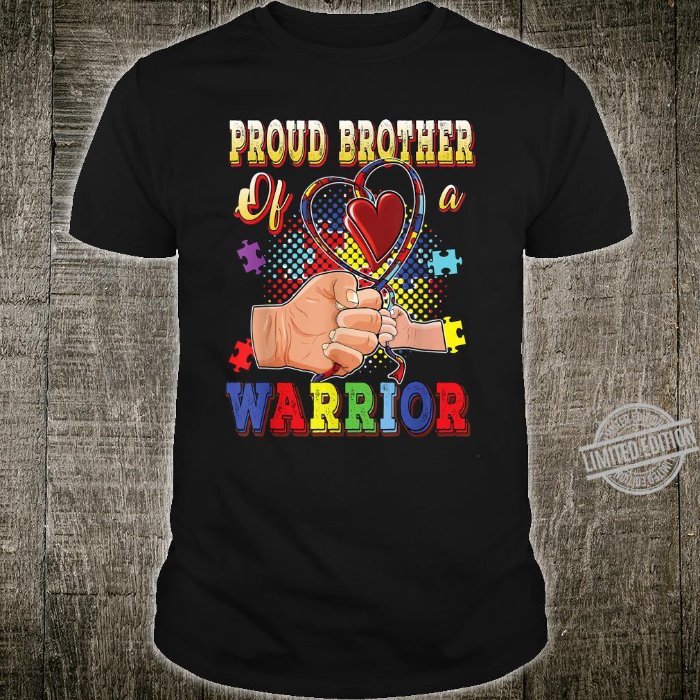Autism Awareness Shirt Proud Brother Of A Warrior Autistic Shirt