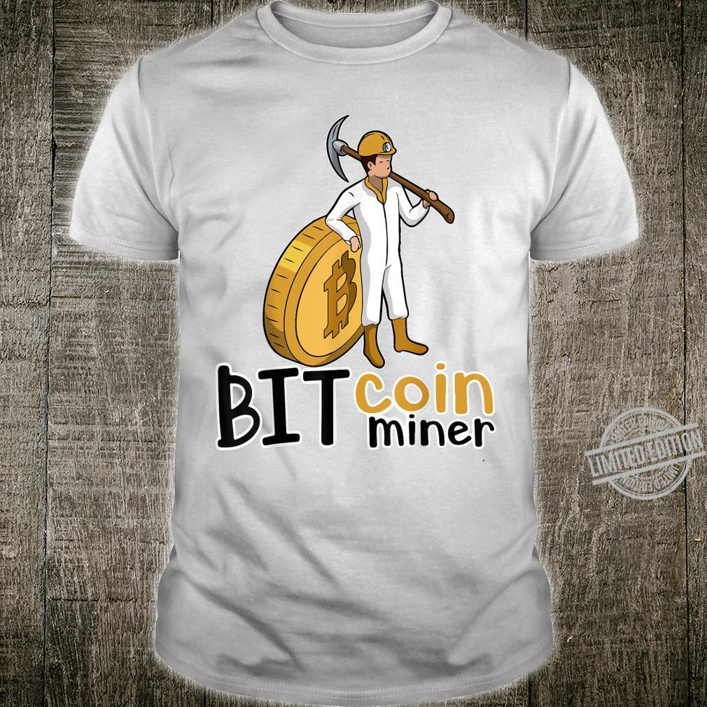 Bitcoin Miner Market Trader Miner Investor Digital Currency Shirt