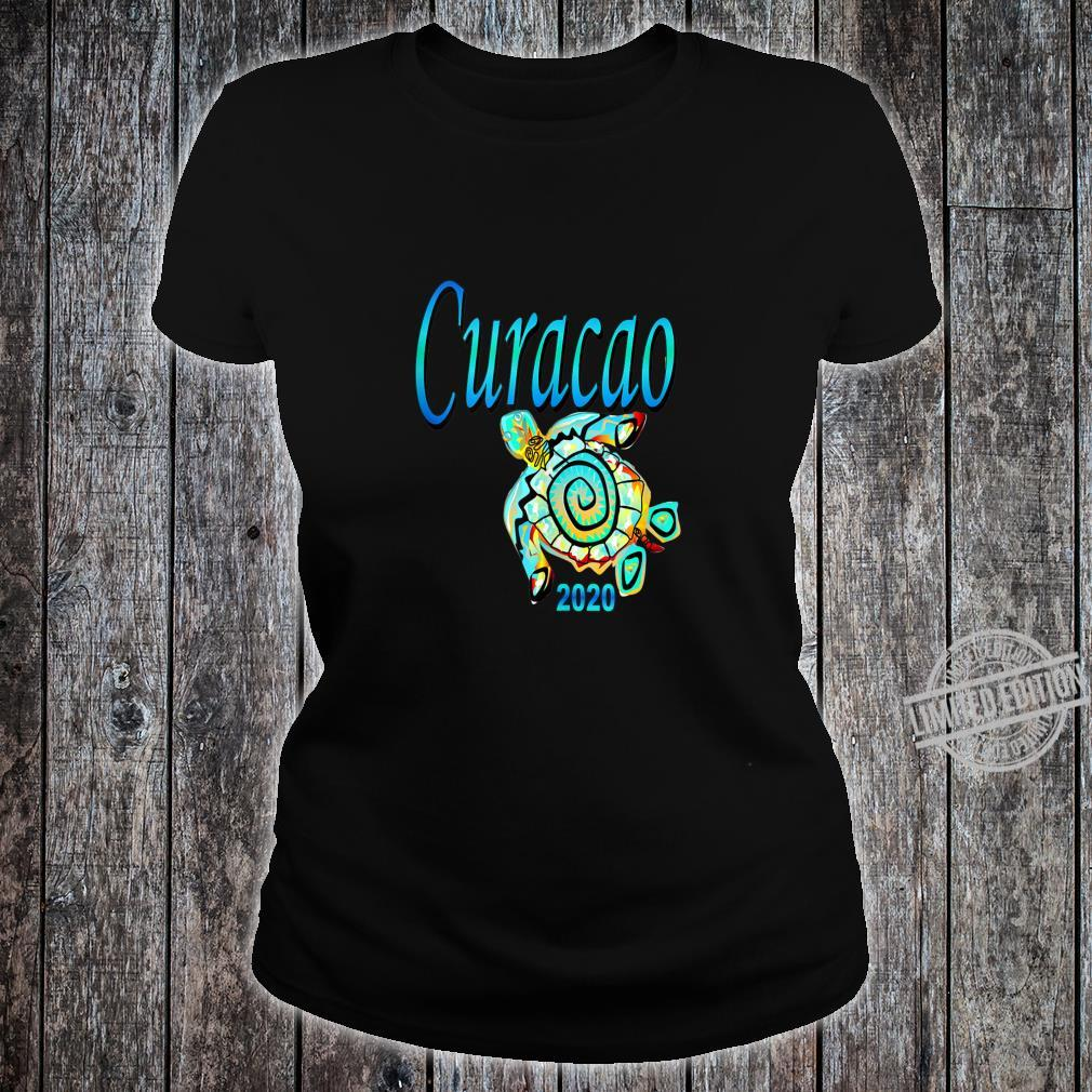 CURACAO TRIBAL TURTLE TRAVEL SOUVENIR VACATION Shirt ladies tee