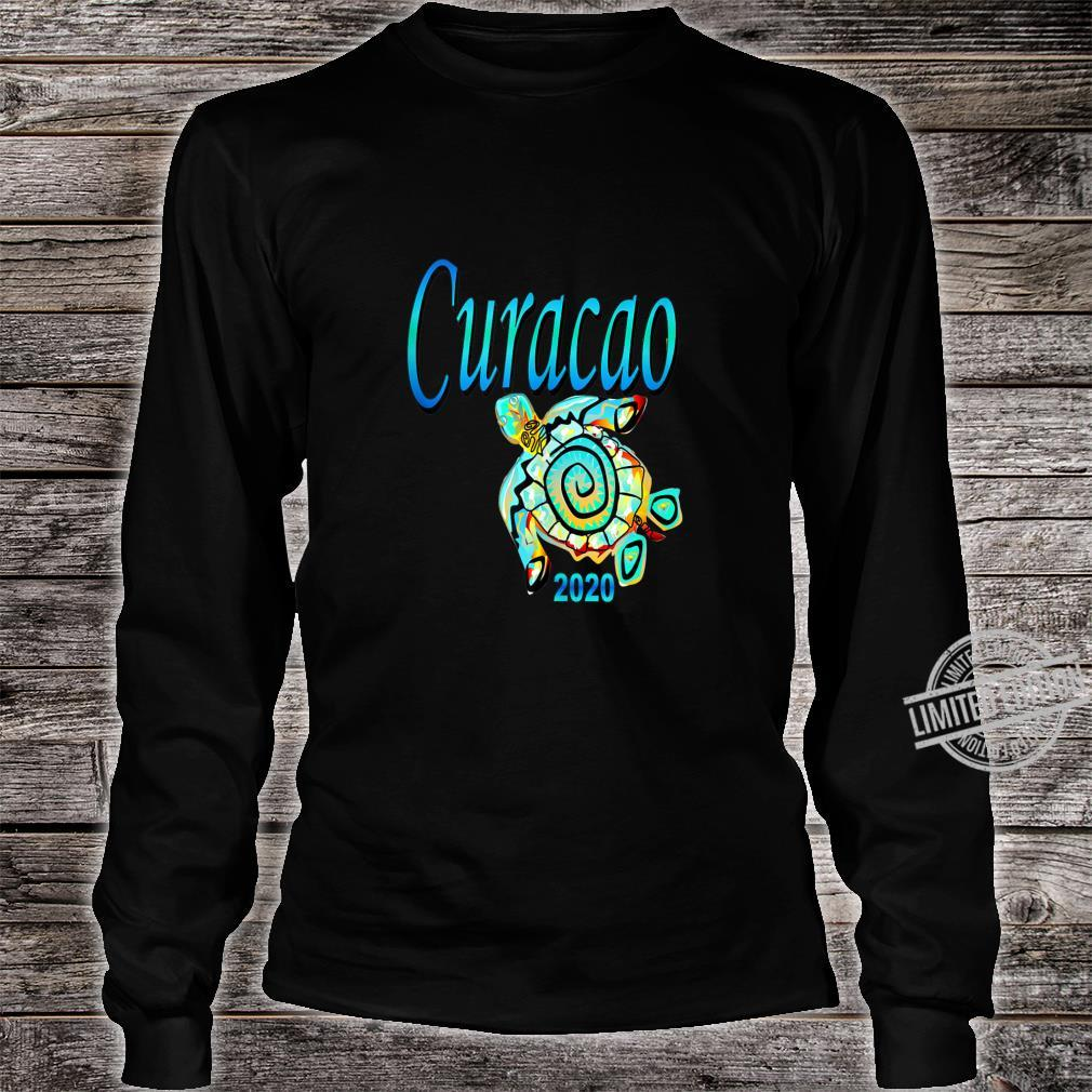 CURACAO TRIBAL TURTLE TRAVEL SOUVENIR VACATION Shirt long sleeved