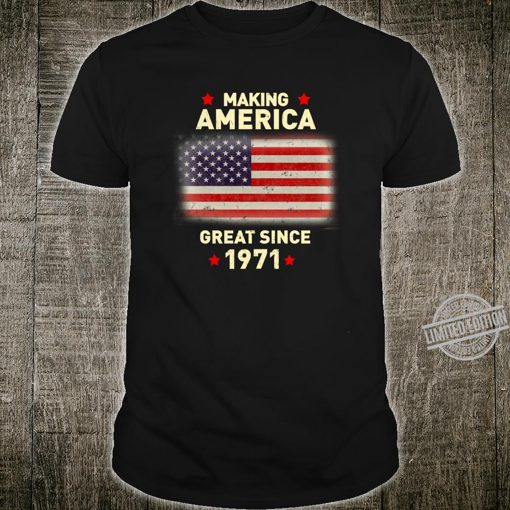 Cool 1971 Bday Vintage 49th Birthday Shirt
