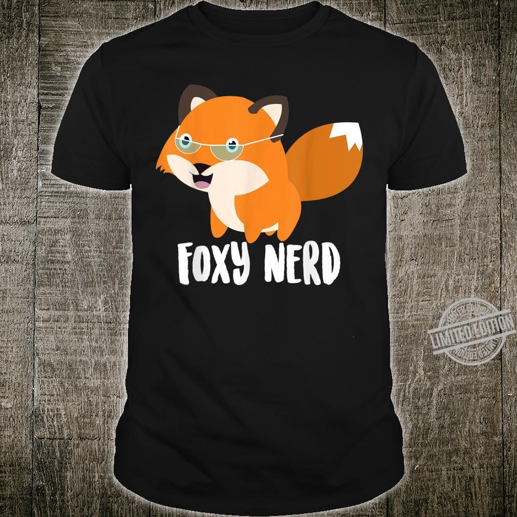 Cool Foxy Nerd Bookworm Glasses Fox Animal Love Shirt