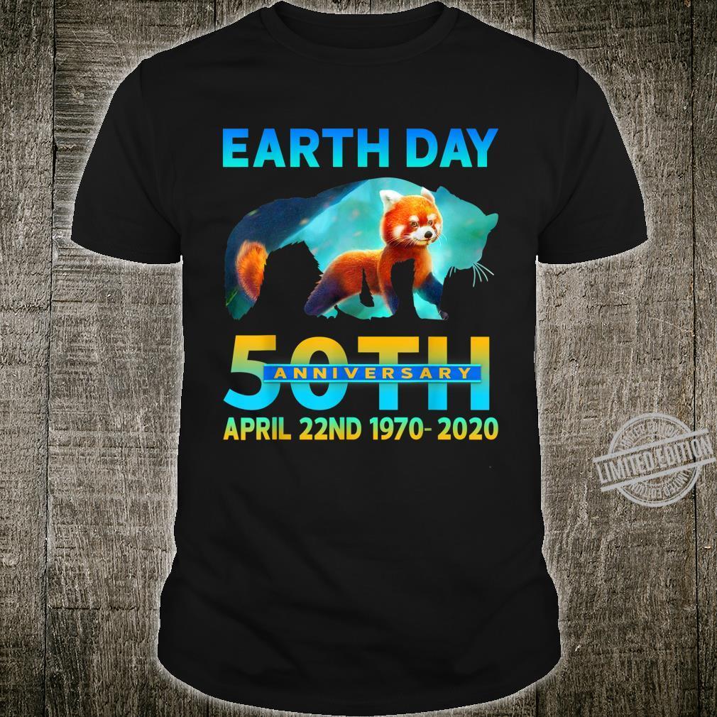 Cool Red Panda Earth Day 50Th Anniversary 1970 2020 Shirt