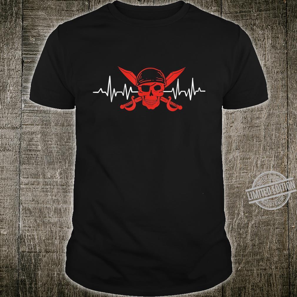 Costume Heartbeat Heart Rate Heart Line Pirate Shirt