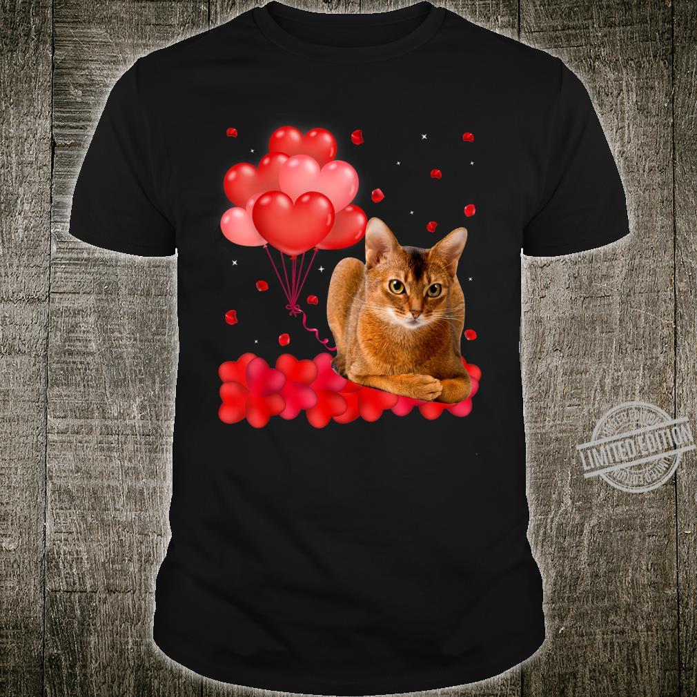 Cute Abyssinian Heart Love Valentine's Day Shirt
