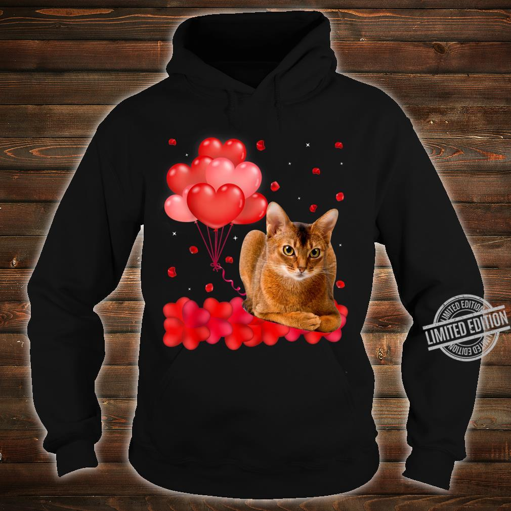 Cute Abyssinian Heart Love Valentine's Day Shirt hoodie