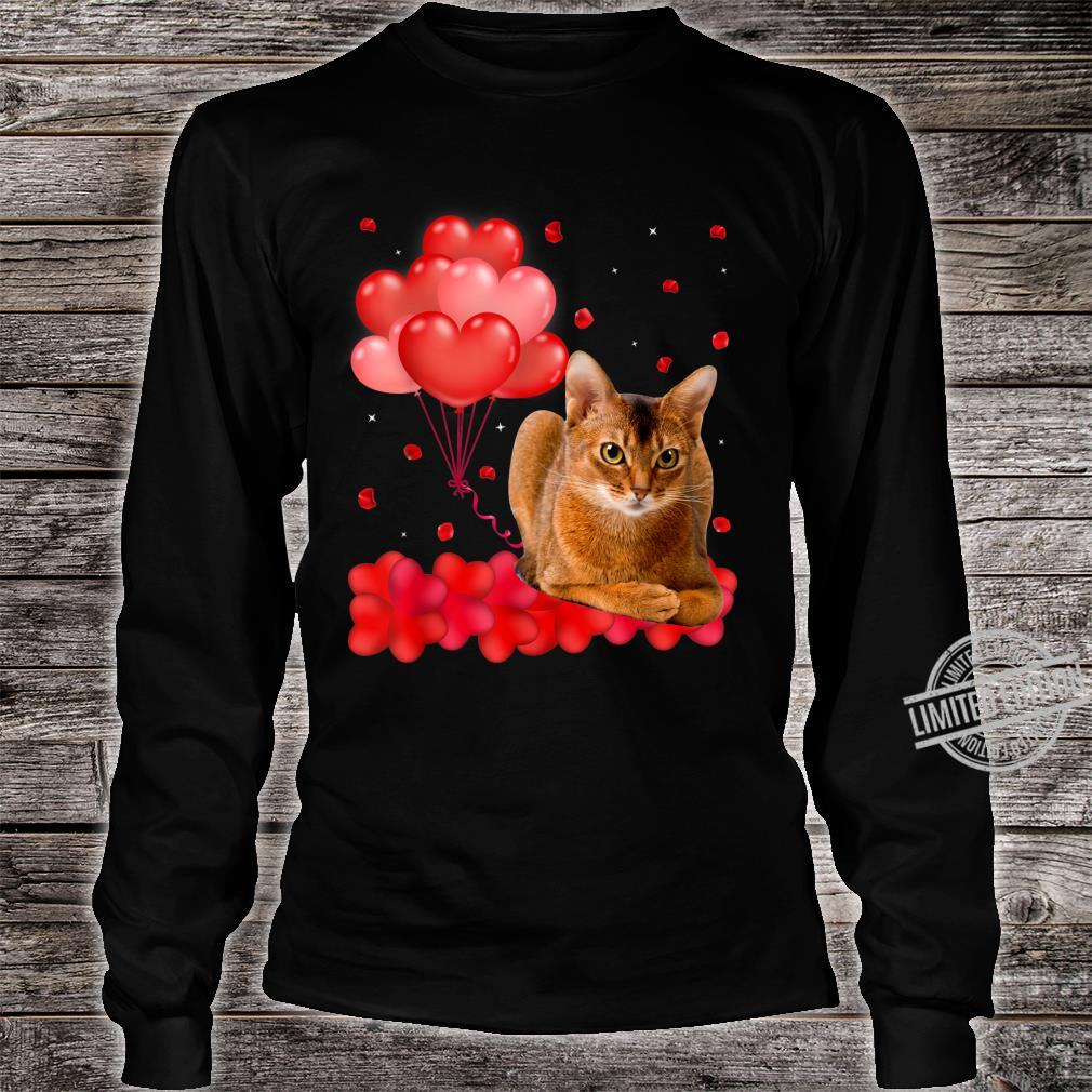 Cute Abyssinian Heart Love Valentine's Day Shirt long sleeved