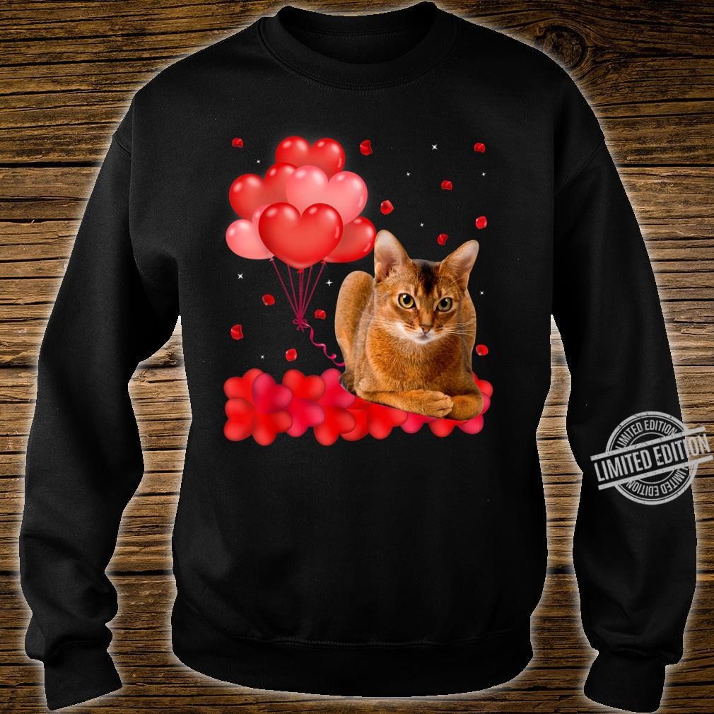Cute Abyssinian Heart Love Valentine's Day Shirt sweater