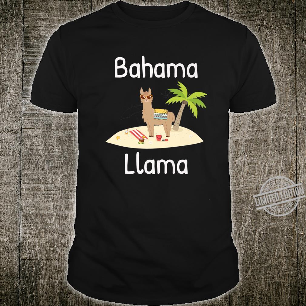 Cute Bahama Llama Vacation Wear for the Whole Family Shirt