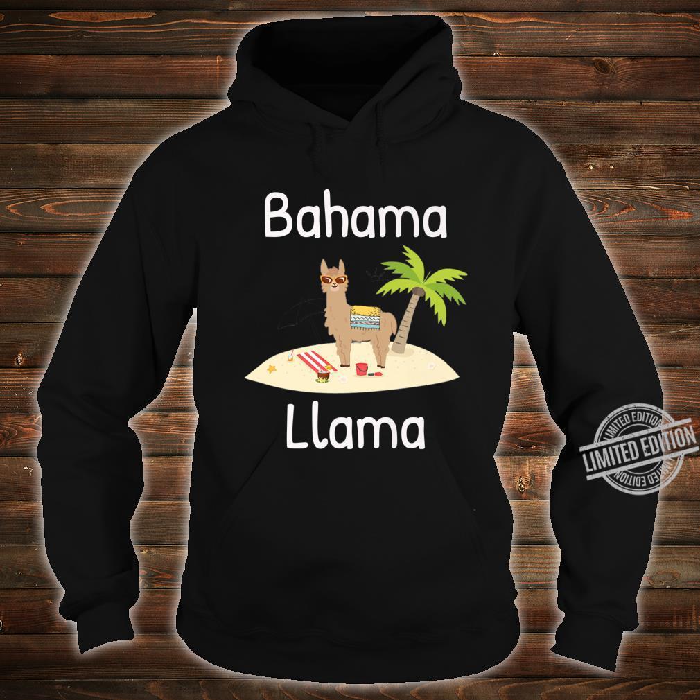 Cute Bahama Llama Vacation Wear for the Whole Family Shirt hoodie