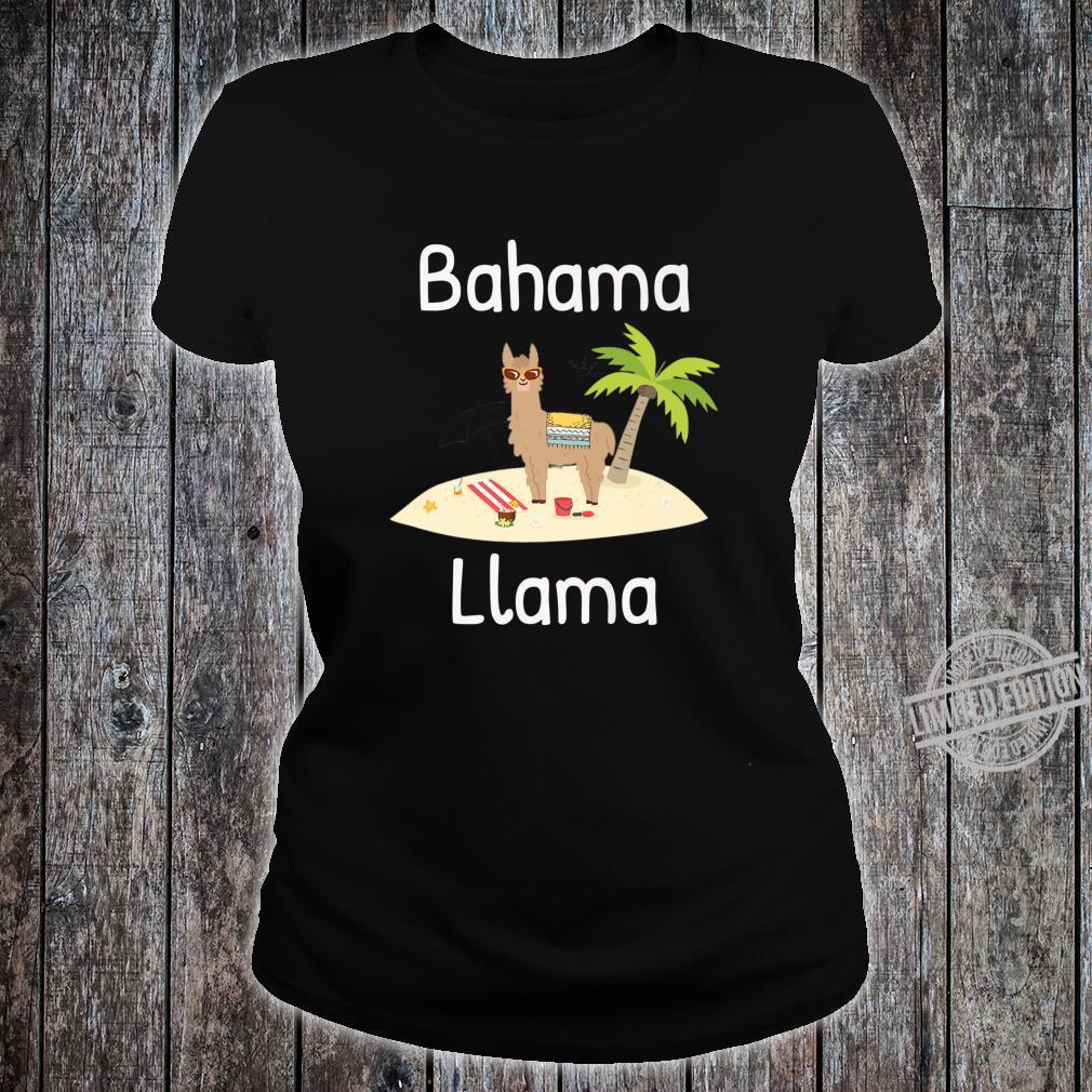 Cute Bahama Llama Vacation Wear for the Whole Family Shirt ladies tee