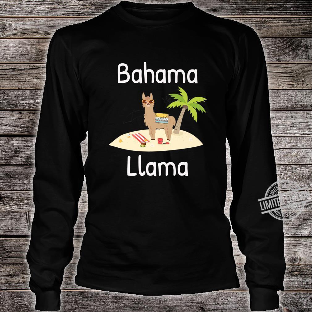 Cute Bahama Llama Vacation Wear for the Whole Family Shirt long sleeved