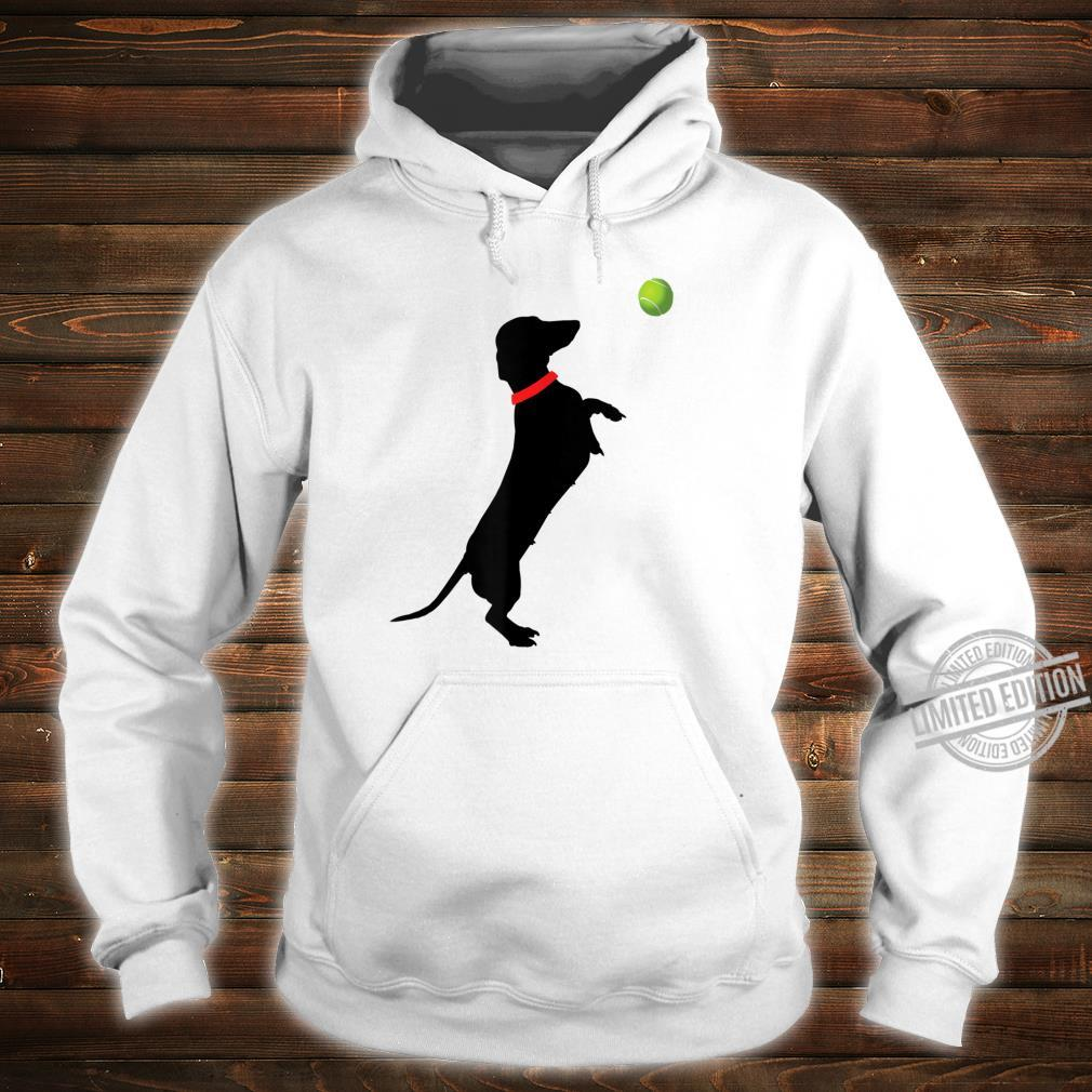 Dachshund Dog Jumps for Yellow Tennis Balls Doxie Shirt hoodie
