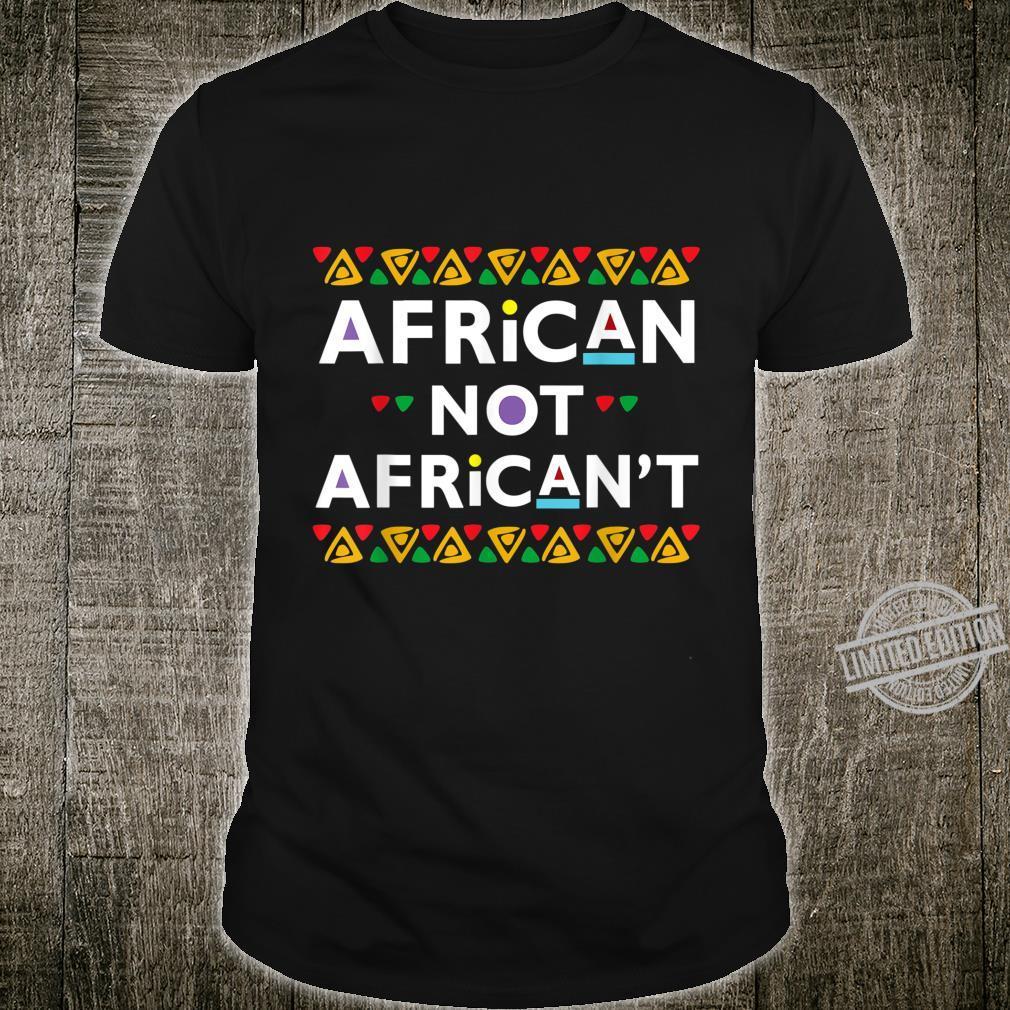 Dashiki African American Pride Black History Month Shirt