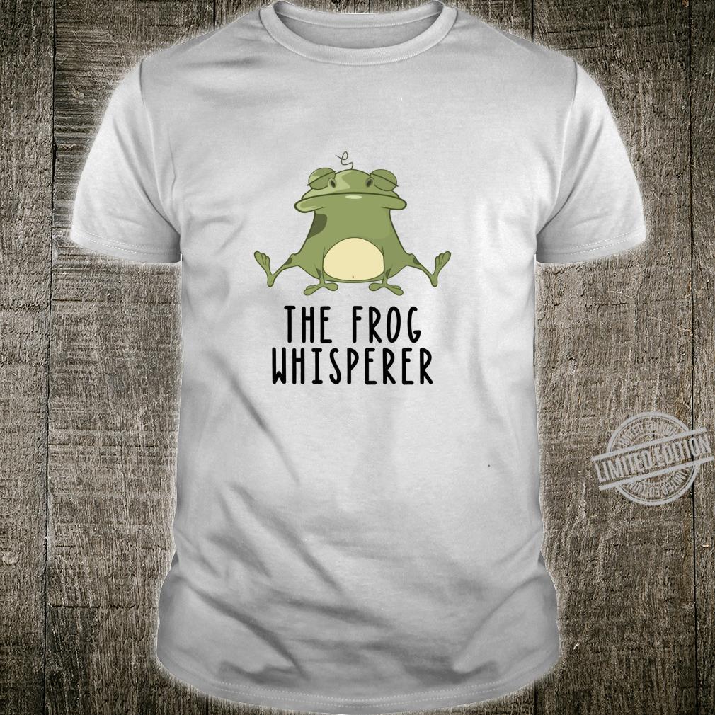 Der Frosch Whisperer Niedlich Lustige Kröte Liebhaber Langarmshirt Shirt