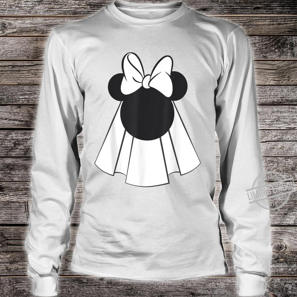 Disney Mickey And Friends Minnie Mouse Bride Shirt long sleeved
