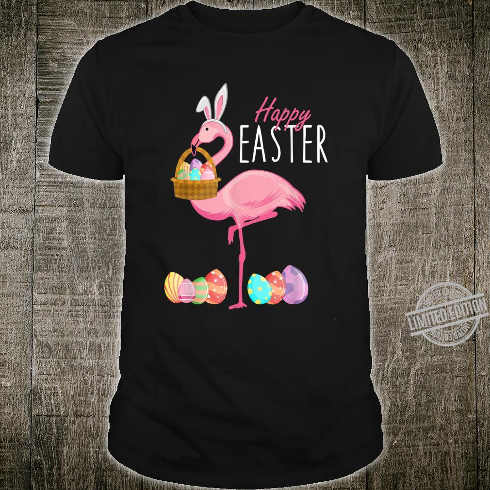 Flamingo Bunny Ears Easter Eggs Happy Easter Day 2020 Shirt