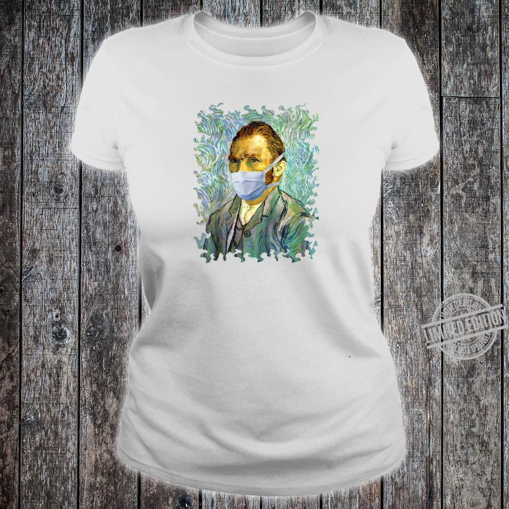 Funny Flu Season Van Gogh Self With Mask Spoof Shirt ladies tee