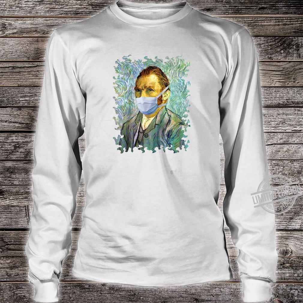 Funny Flu Season Van Gogh Self With Mask Spoof Shirt long sleeved