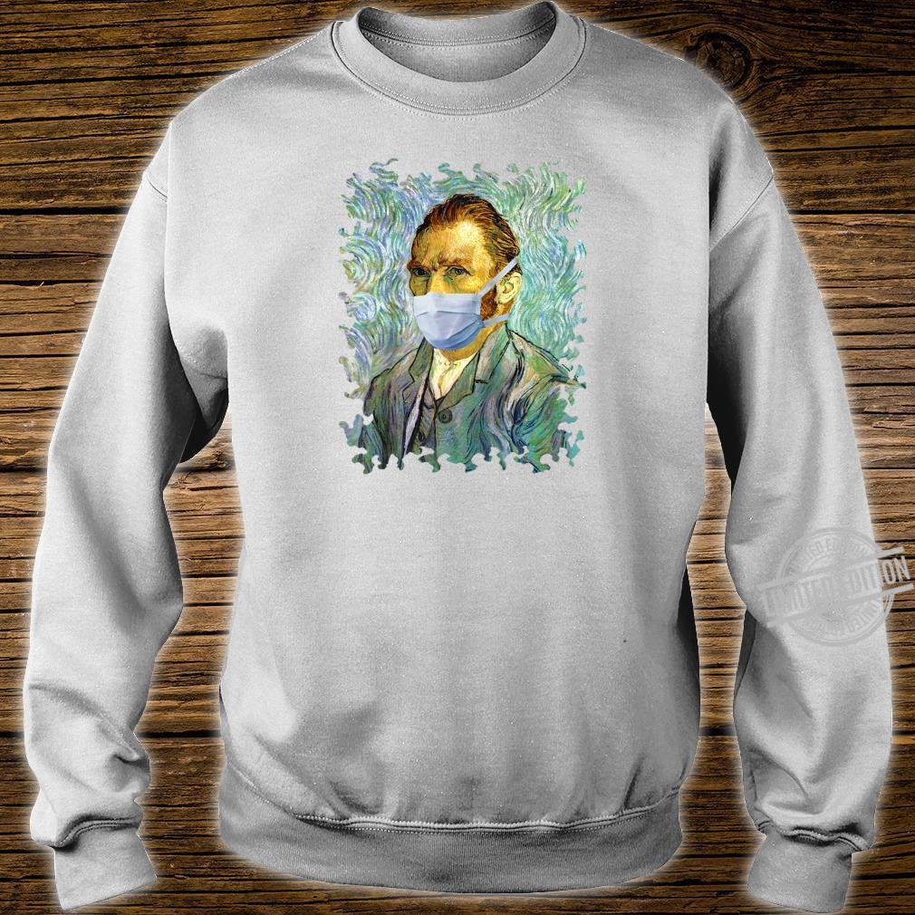 Funny Flu Season Van Gogh Self With Mask Spoof Shirt sweater