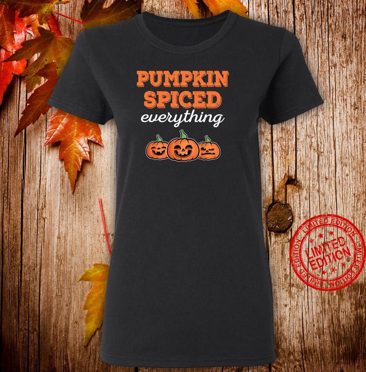 Funny Halloween Pumpkin Spiced Fall Season Thanksgiving Shirt ladies tee