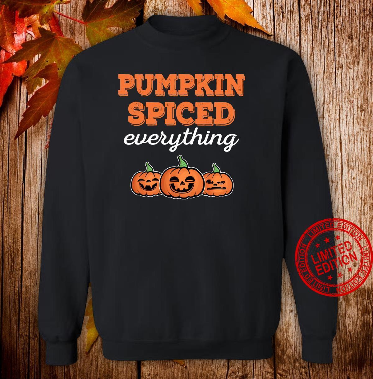 Funny Halloween Pumpkin Spiced Fall Season Thanksgiving Shirt sweater