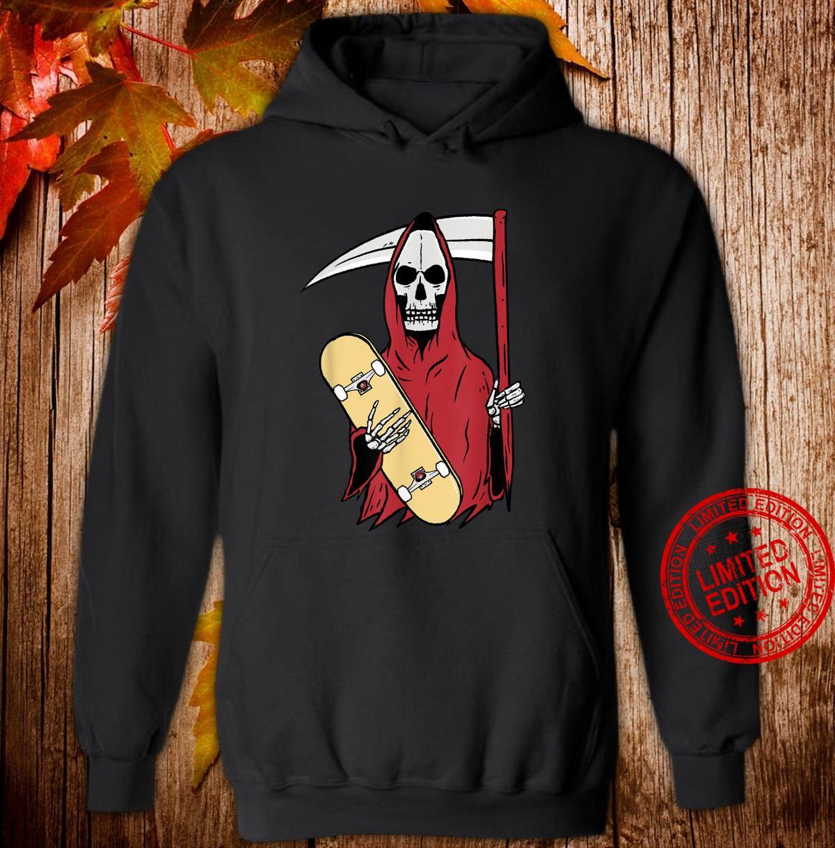 Grim Reaper Skateboarding Shirt hoodie