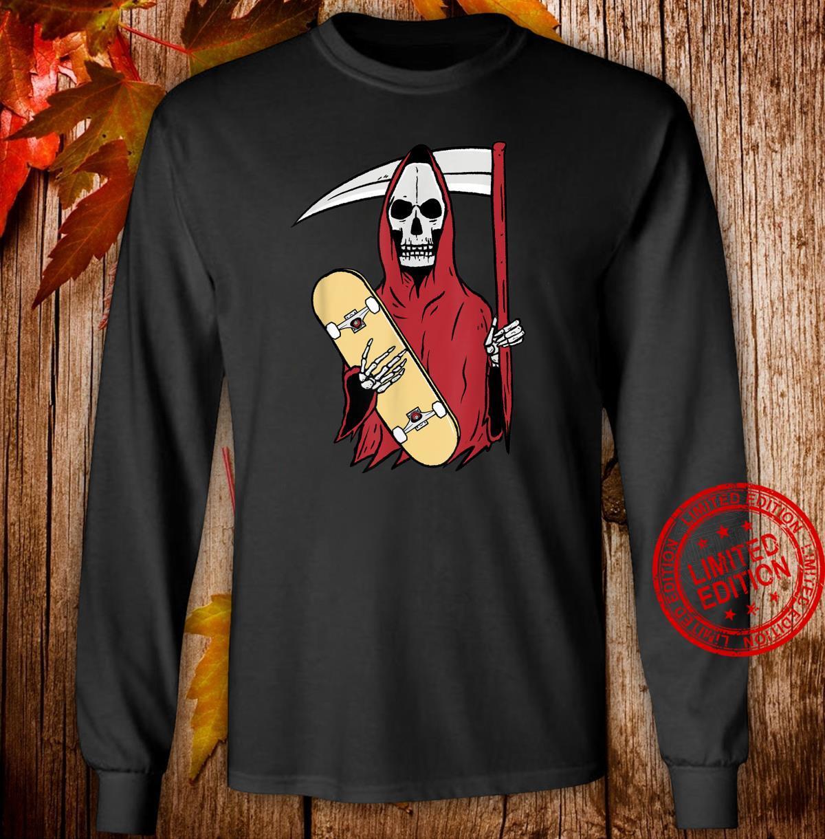 Grim Reaper Skateboarding Shirt long sleeved