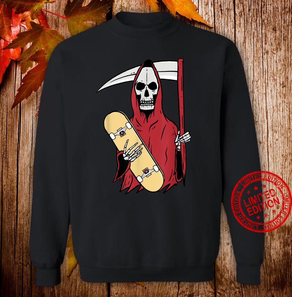 Grim Reaper Skateboarding Shirt sweater