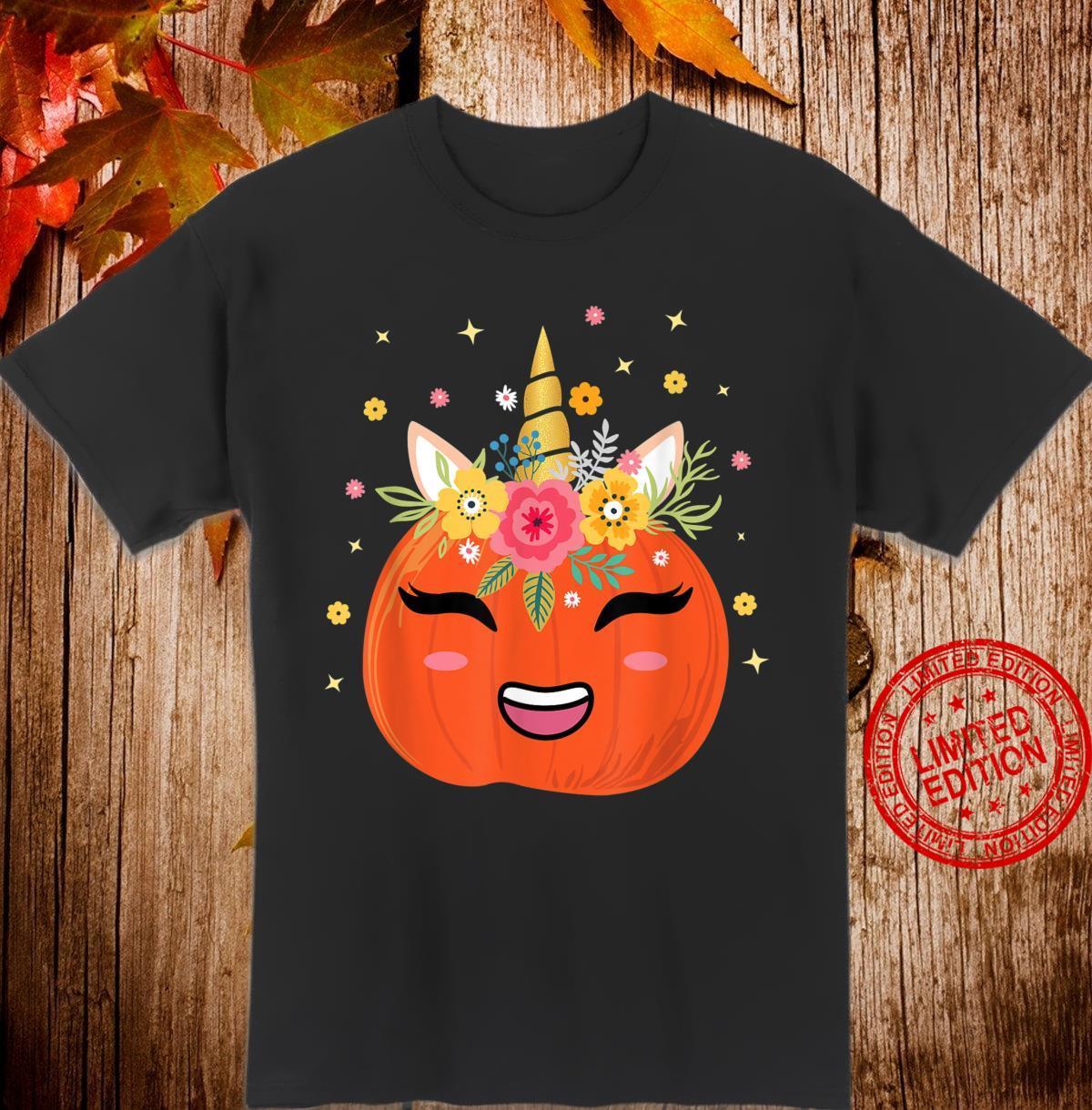 Halloween 2020 Magic Unicorn Pumpkin Face Jack O Lantern Shirt