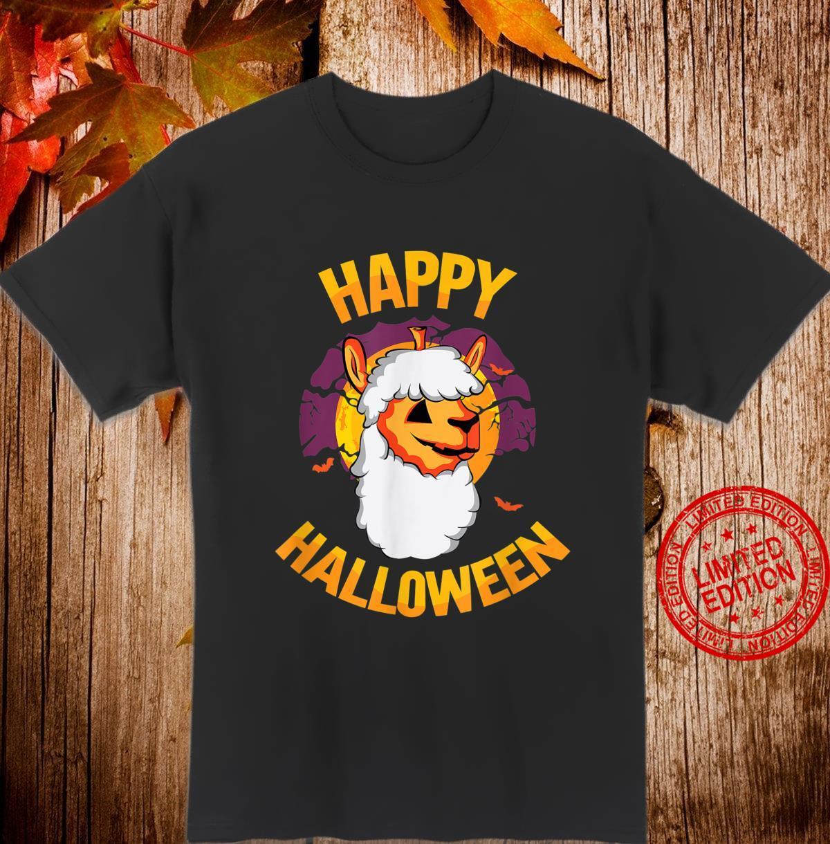 Happy Halloween Kürbis Alpaka Kostüm Halloween 2020 Shirt