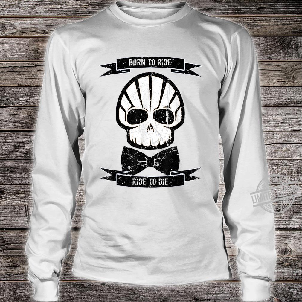 Herren Born to Ride Ride to Die Rockabilly Vintage Club Shirt long sleeved