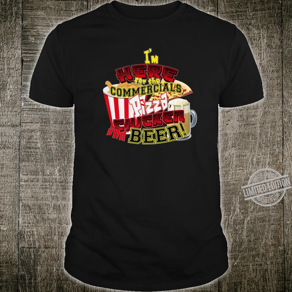 I Hate sports but I love Pizza, Chicken and Beer Shirt