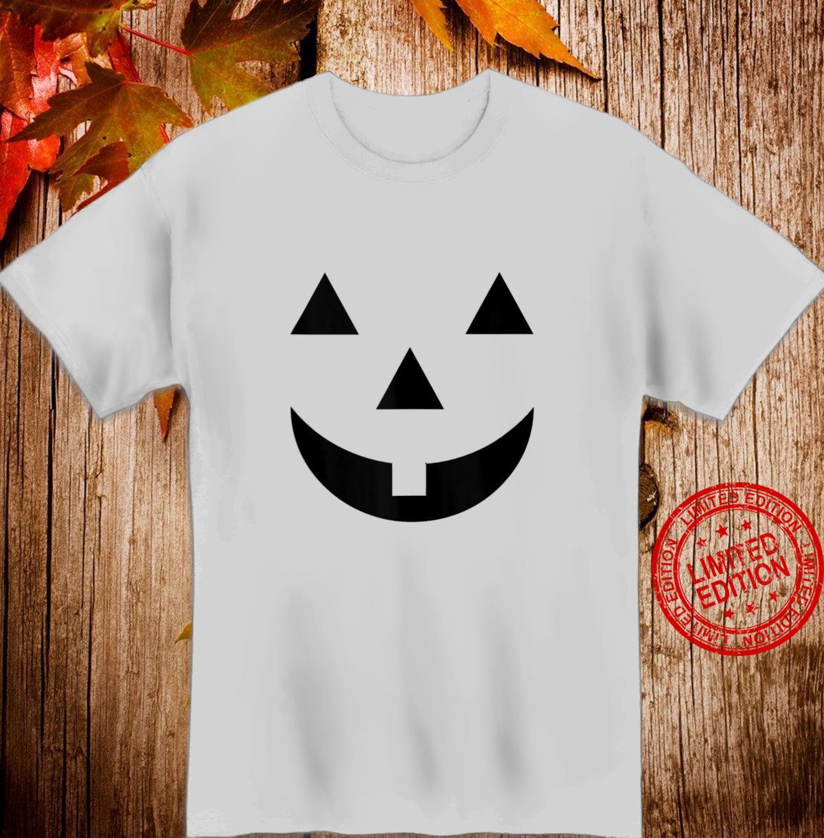 Jack O Lantern Halloween Pumpkin Face Mask Smiley Shirt