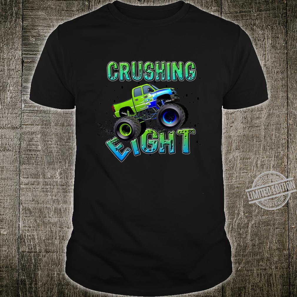 Kids Birthday Boy Age 8 Monster Truck Eight Bday Eight Year Old Shirt