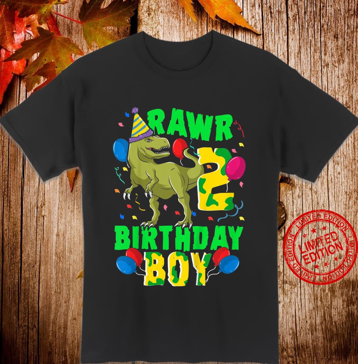 Kinder Dino 2. Geburtstag Süßes Birthday Boy Dinosaurier Shirt