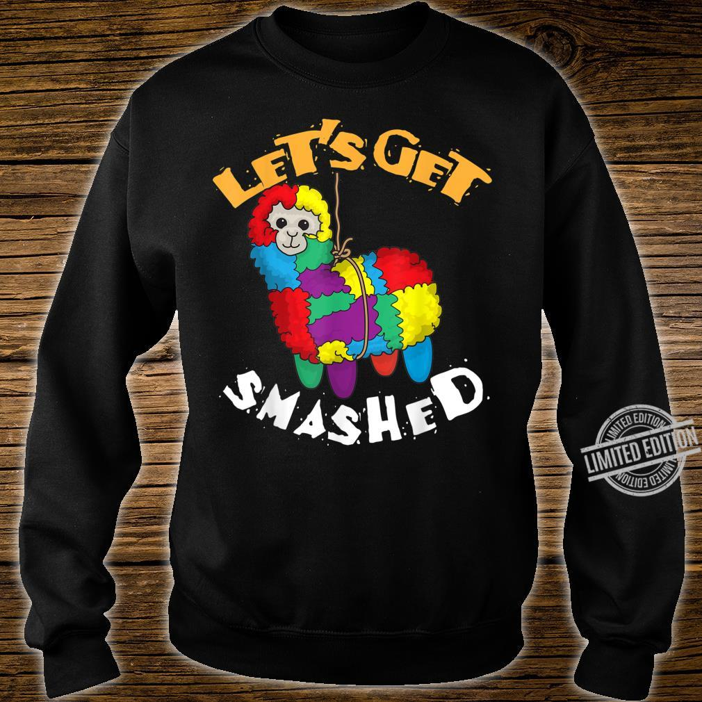 Let's Get Smashed Cool Cinco De Mayo Llama Shirt sweater