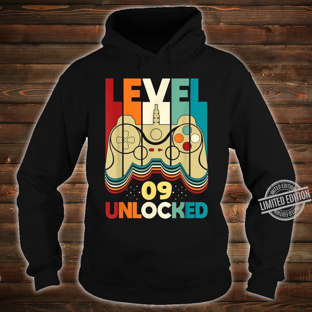 Level 09 Unlocked Shirt Video Gamer 09th Birthday Shirt hoodie