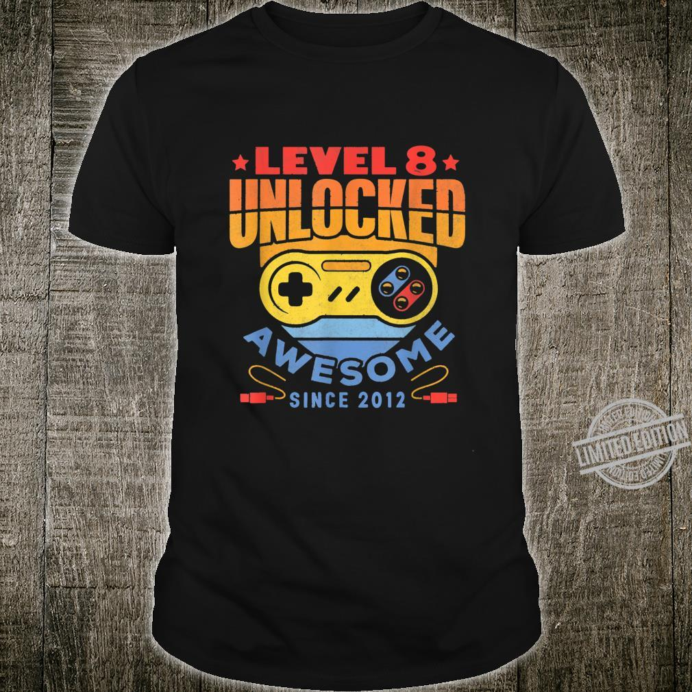 Level 8 Unlocked Birthday Shirt Gamer Boys 8 Years Old Shirt