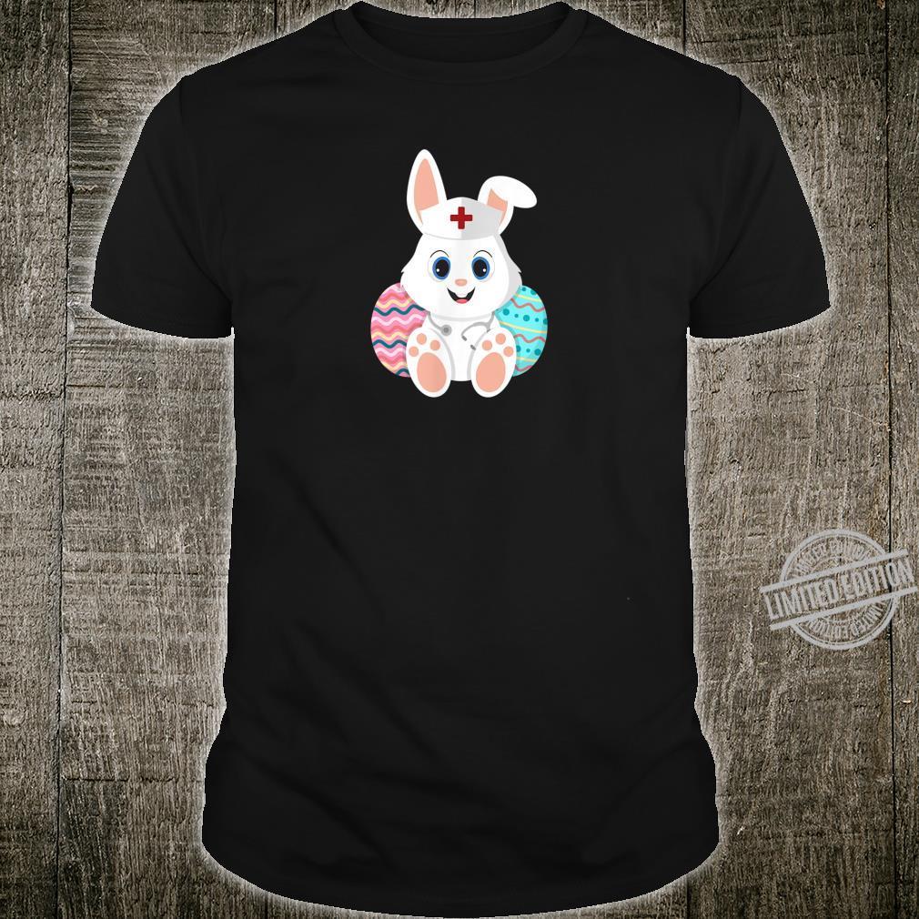 Mens Nurse Easter Bunny Egg Green Scrubs Stethoscope Cute Shirt